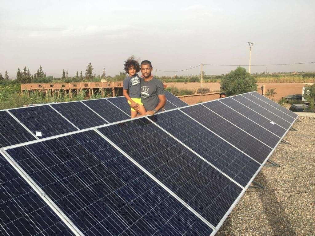 Eclairage public avec lampes solaire EST Essaouira